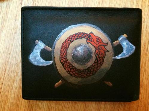 This Viking wallet went to a true viking. A year later, the paint still looks as new!