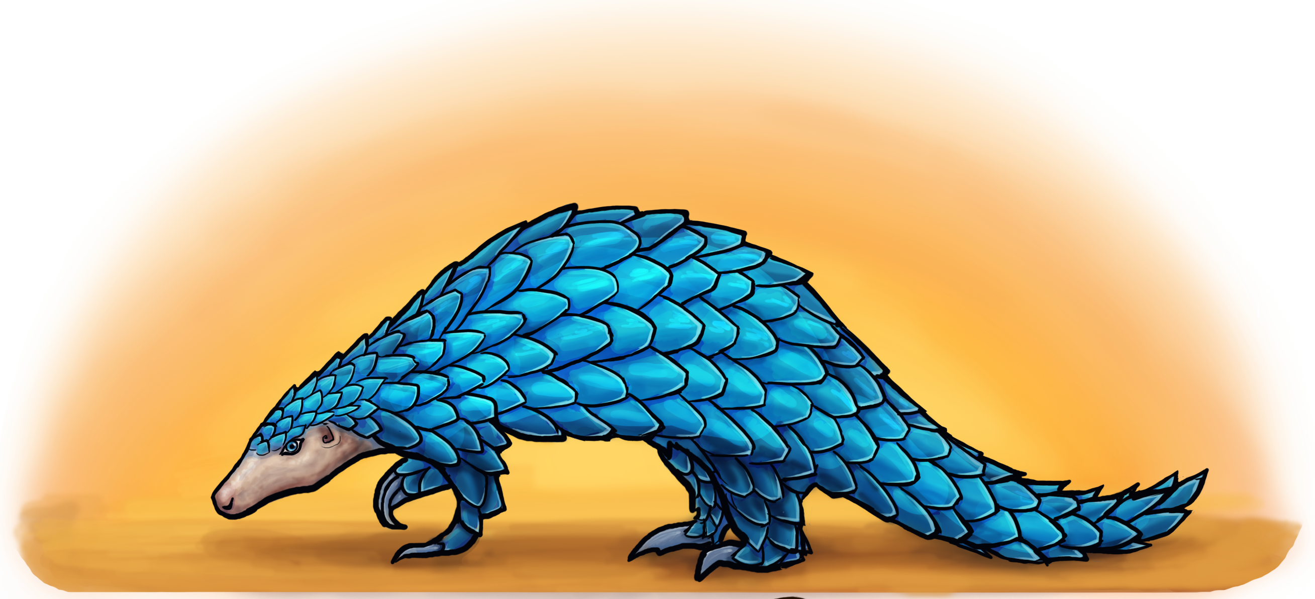 The Blue Pangolin