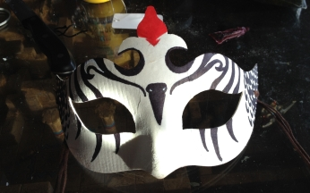 Woodpecker mask for Samhain 2017, keeping it simplistic while still transferring the message and symbolism.